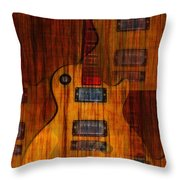 Guitar Army Throw Pillow