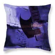 Guitar Art 001a Throw Pillow
