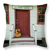 Guitar At Cold Spring Chronicle Throw Pillow