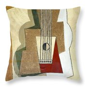 Guitar, By Pablo Picasso, 1919, Kroller-muller Museum, Hoge Velu Throw Pillow