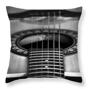 Guitar Close Up Throw Pillow