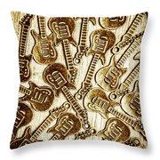 Guitar Echo Chamber Throw Pillow