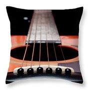 Guitar Orange 19 Throw Pillow