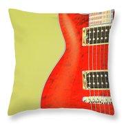 Guitar Pic Throw Pillow