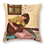 Guitar Player Throw Pillow