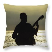 Guitar Silhouette Throw Pillow