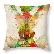 Guitar Siren Throw Pillow