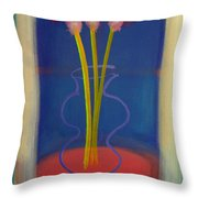 Guitar Vase Throw Pillow