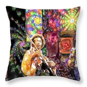 Guitar Watercolor Throw Pillow