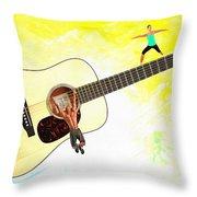 Guitar Workout Throw Pillow