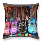 Guitarras Floriadas II Throw Pillow
