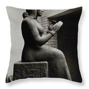 Gula, Mesopotamian Goddess Of Healing Throw Pillow