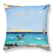 Gulf Beach Pathway Throw Pillow