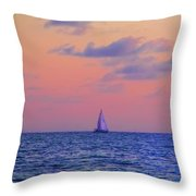 Gulf Coast Sailboat Throw Pillow