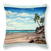 Gulf Dunes Throw Pillow