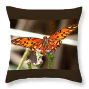 Gulf Fritillary 2 Throw Pillow