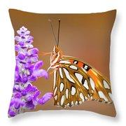 Gulf Fritillary Throw Pillow