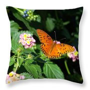 100_5412 Gulf Fritillary Throw Pillow