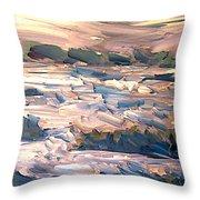 Gulf Island Sunset Throw Pillow