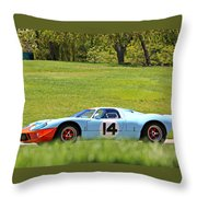 Gulf Mirage Ford Gt40 Throw Pillow