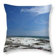 Gulf Of Mexico At Pensacola Beach Throw Pillow