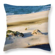 Gulf Of Mexico Dunes Throw Pillow