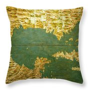 Gulf Of Mexico, States Of Central America, Cuba And Southern United States Throw Pillow
