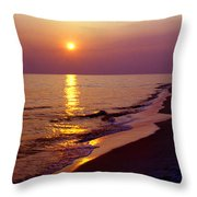 Gulf Of Mexico Sunset Throw Pillow