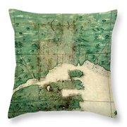 Gulf Of St Lawrence 1541 Throw Pillow