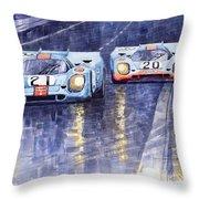 Gulf-porsche 917 K Spa Francorchamps 1970 Throw Pillow