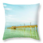 Gulf Shores Pier Throw Pillow