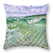 Gulf Waves Throw Pillow