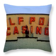 Gulfport Casino Throw Pillow