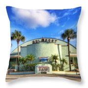 Gulfport Casino Throw Pillow by Tammy Wetzel
