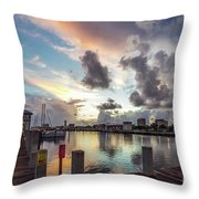 Gulfport Harbor Colors Throw Pillow