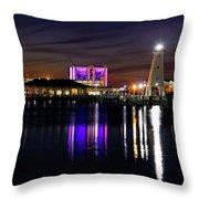 Gulfport Lighthouse - Mississippi - Harbor Throw Pillow