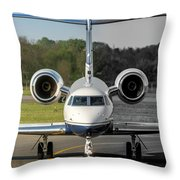 Gulfstream Aerospace G500 I-delo Frontal.nef Throw Pillow