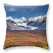 Gulkana Glacier Throw Pillow
