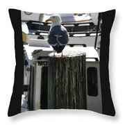 Gull And Pier 1 Throw Pillow
