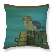 Gull And Ring Throw Pillow