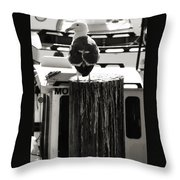 Gull At Pier Throw Pillow