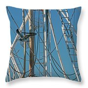 Gull At Sandwich Marina Throw Pillow