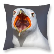 Gull Portrait Throw Pillow by Mircea Costina Photography