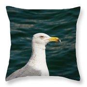 Gull Profile Throw Pillow