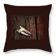 Gull Theft And Claw Left Throw Pillow