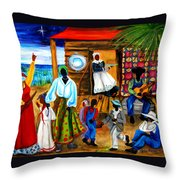 Gullah Christmas Throw Pillow by Diane Britton Dunham