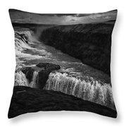 Gullfoss Waterfall Throw Pillow