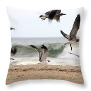 Gulls Away Throw Pillow