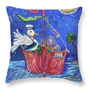 Gull's Bounty Throw Pillow