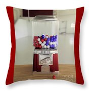 Gumball Red White And Blue Throw Pillow